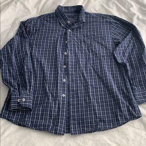 IZOD men's navy blue dress shirt